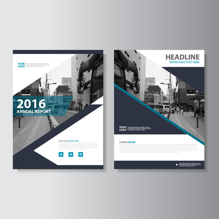 magazine page: Black Vector annual report Leaflet Brochure Flyer template design, book cover layout design, Abstract Blue presentation templates Illustration