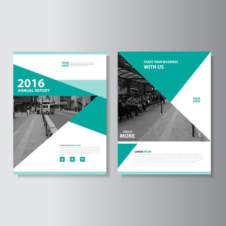 Green Vector jaarverslag Pamflet Brochure Flyer template ontwerp, de cover van het boek lay-out ontwerp, Abstract green presentatiesjablonen Stock Illustratie