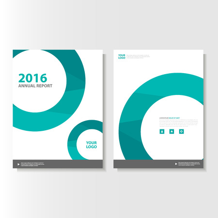cover: Green Vector annual report Leaflet Brochure Flyer template design, book cover layout design, Abstract green presentation templates