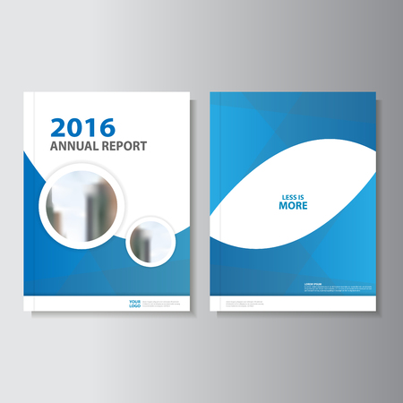 Blue Circle Annual Report Leaflet Brochure Flyer Template Design, Book  Cover Layout Design, Abstract