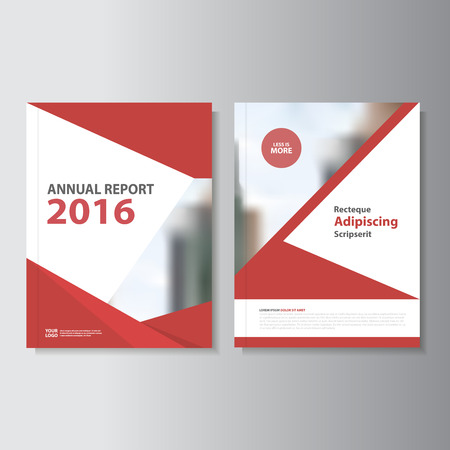 Red Vector annual report Leaflet Brochure Flyer template design, book cover layout design, Abstract red presentation templates Фото со стока - 54786659