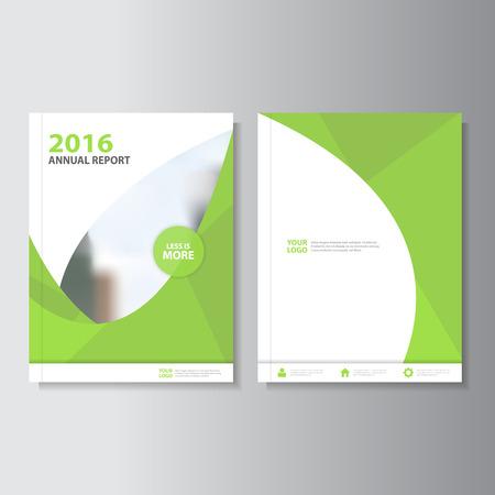 緑ベクトル年次報告書チラシ パンフレット フライヤー テンプレート デザイン、ブックカバーのレイアウト デザイン、緑の要約プレゼンテーション テンプレート