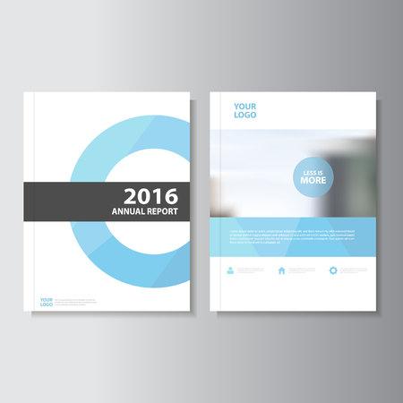 Bleu vecteur rapport annuel Dépliant Brochure Flyer conception de modèle, conception couverture du livre de mise en page, Résumé des modèles de présentation bleu