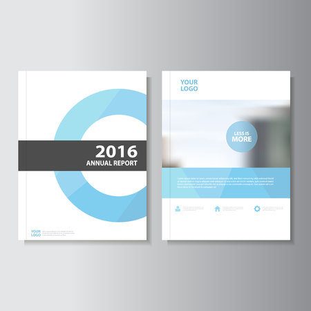 Blue Vector annual report Leaflet Brochure Flyer template design, book cover layout design, Abstract blue presentation templates
