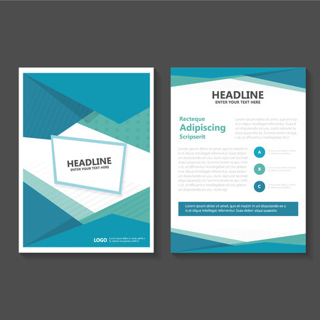 Green Business Brochure Flyer template design, book cover layout design, Abstract green presentation annual report templates