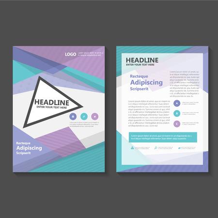 Violet vecteur vert de Dépliant Brochure Flyer conception de modèle, conception couverture du livre de mise en page, pourpre abstrait modèles de présentation vert