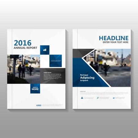 conception: Bleu vecteur rapport annuel Dépliant Brochure Flyer conception de modèle, conception couverture du livre de mise en page, Résumé des modèles de présentation bleu