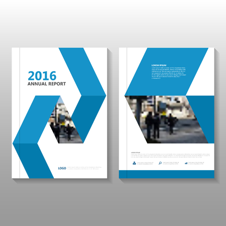 cover: Blue Vector annual report Leaflet Brochure Flyer template design, book cover layout design, Abstract blue presentation templates