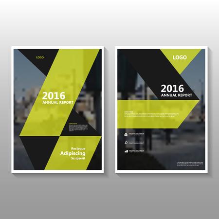 Geel Vector jaarverslag poster Folder Brochure Flyer template ontwerp, de cover van het boek lay-out ontwerp, Abstracte gele presentatiesjablonen Stock Illustratie