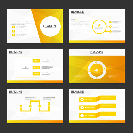Circle gold presentation templates Infographic elements flat design set for brochure flyer leaflet marketing advertising