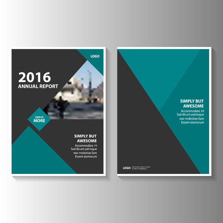 Green black annual report Leaflet Brochure Flyer template design, book cover layout design, Abstract geen black presentation templates