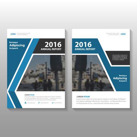 Bleu rapport annuel de Vector black Dépliant Brochure Flyer conception de modèle, couverture de livre de conception de mise en page, Résumé modèles bleu présentation noir