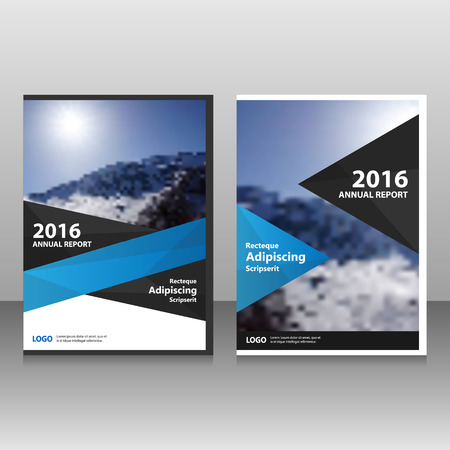 Blue black Vector annual report Leaflet Brochure Flyer template design, book cover layout design, Abstract blue presentation templates