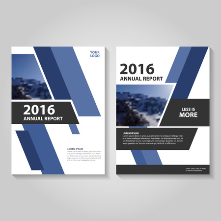 Blue annual report Leaflet Brochure template design, book cover layout design, Abstract blue presentation templates Vettoriali