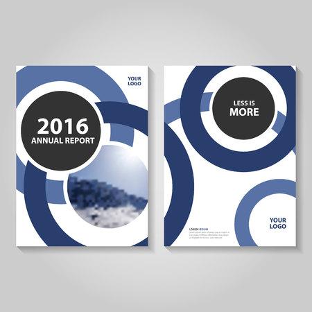 Blue annual report Leaflet Brochure template design, book cover layout design, Abstract blue presentation templates Illusztráció