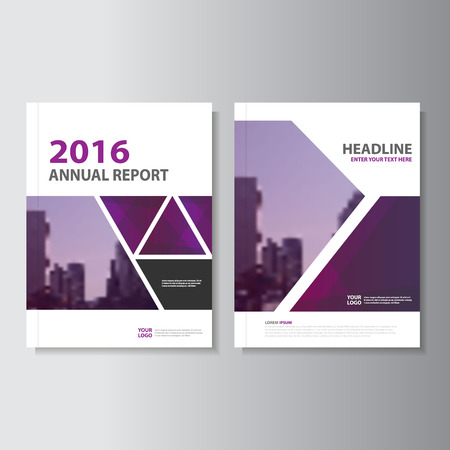 layout: Triangle Purple annual report Leaflet Brochure template design, book cover layout design, Abstract purple presentation templates