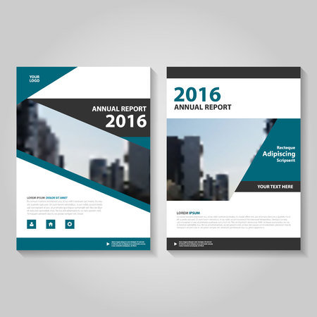annual report: Blue black annual report Leaflet Brochure template design, book cover layout design, Abstract blue presentation templates