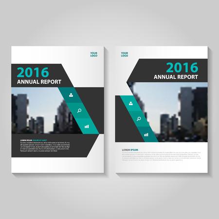 eleganz: Elegance grün schwarz Jahresbericht Prospekt Broschüre Template-Design, Buch-Cover-Layout-Design, Abstract green Präsentationsvorlagen
