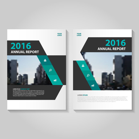 Elegance green black annual report Leaflet Brochure template design, book cover layout design, Abstract green presentation templates
