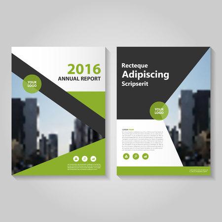 Elegance Green zwarte jaarverslag Folder Brochure template ontwerp, de cover van het boek lay-out ontwerp, Abstract groen zwart presentatiesjablonen Stock Illustratie