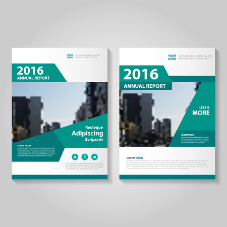 Elegance green annual report Leaflet Brochure template design, book cover layout design, Abstract green presentation templates