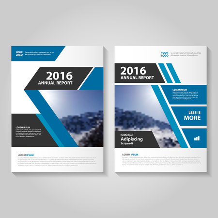 Blue annual report Leaflet Brochure template design, book cover layout design, Abstract blue presentation templates 일러스트