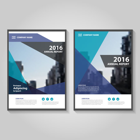 Blue purple green annual report Leaflet Brochure template design, book cover layout design, Abstract colorful presentation templates
