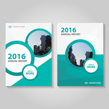 Circle green annual report Leaflet Brochure template design, book cover layout design, Abstract circle green presentation templates Vettoriali