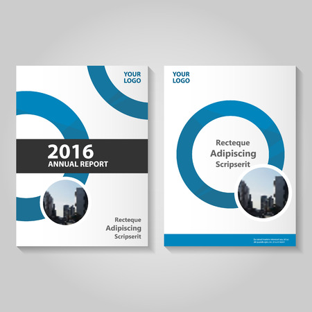 Abstract circle Blue black annual report Leaflet Brochure template design, book cover layout design, Abstract blue presentation templates