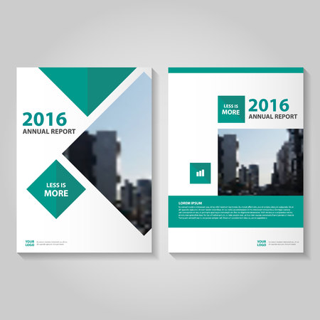 Green Square Vector annual report Leaflet Brochure Flyer template design, book cover layout design, Abstract green presentation templates
