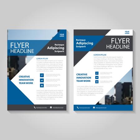 Triangle Blue Vector jaarverslag Leaflet Brochure Flyer sjabloonontwerp, boekomslag lay-outontwerp, abstracte blauwe presentatiesjablonen Stock Illustratie