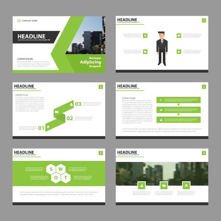 keynote: Green black presentation templates Infographic elements flat design set for brochure flyer leaflet marketing advertising