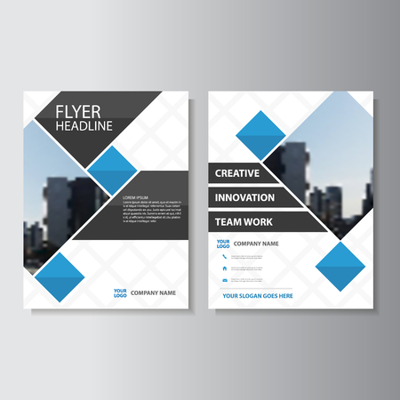 Creative Blue Vector business proposal annual report Leaflet Brochure Flyer template design, book cover layout design, Abstract blue presentation templates Vettoriali