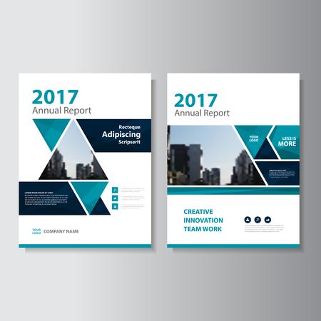Triangle bleu vecteur rapport annuel Dépliant Brochure Flyer conception de modèle, conception couverture du livre de mise en page, Résumé des modèles de présentation bleu