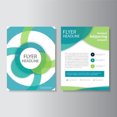 Cercle vecteur dépliant Brochure Flyer modèle de conception, conception de mise en page de couverture de livre, modèles de présentation de cercle abstrait Vecteurs