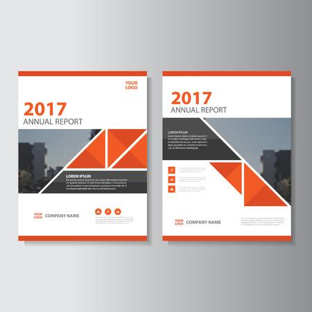 Triangle Vector jaarverslag Leaflet Brochure Flyer sjabloonontwerp, boek cover lay-outontwerp, abstracte rode presentatiesjablonen Stock Illustratie