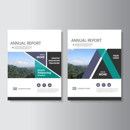 minimal: Purple green Vector annual report Leaflet Brochure Flyer template design, book cover layout design, Abstract purple green presentation templates