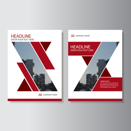 magazine design: Red Vector annual report Leaflet Brochure Flyer template design, book cover layout design, Abstract red presentation templates