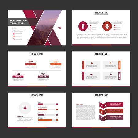 blank magazine: Purple pink Infographic elements presentation template flat design set for brochure flyer leaflet