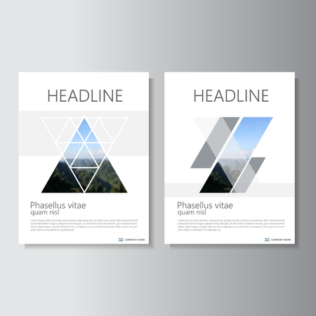 minimal: Clean and minimal geometric style Vector annual report Leaflet Brochure Flyer template design, book cover layout design