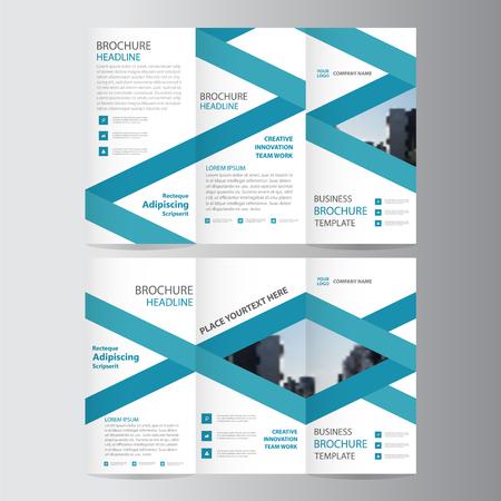eleganz: Blaue Eleganz Geschäft trifold Geschäft Broschüre Broschüre Vorlage minimal flache Design-Set