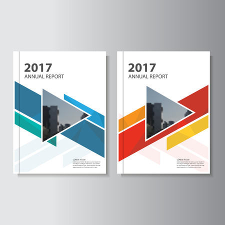 cover: Colorful annual report Leaflet Brochure template design, book cover layout design Illustration