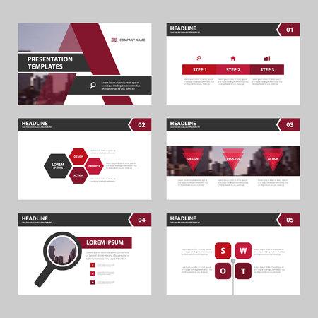 advertising design: Purple pink presentation templates Infographic elements flat design set for brochure flyer leaflet marketing advertising Illustration