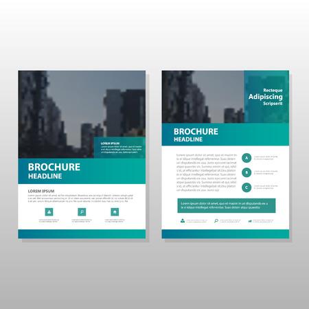 Vector Verde informe anual Folleto Folleto folleto diseño de la plantilla, diseño de diseño de la portada del libro, resumen de plantilla presentación de negocios, diseño de tamaño A4 Foto de archivo - 58294007