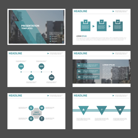 Blue Abstract presentation templates, Infographic elements template flat design set for brochure flyer leaflet marketing advertising banner template Vettoriali