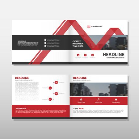 Vector rojo de informe anual Folleto Folleto folleto diseño de la plantilla, diseño de diseño de la portada del libro, resumen de plantilla presentación de negocios, diseño de tamaño A4