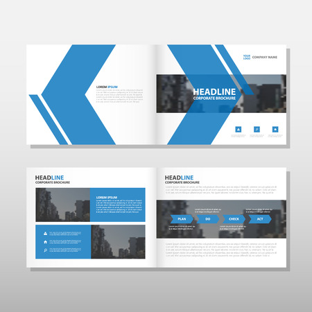 magazine layout: Blue arrow Vector annual report Leaflet Brochure Flyer template design, book cover layout design, abstract business presentation template, a4 size design
