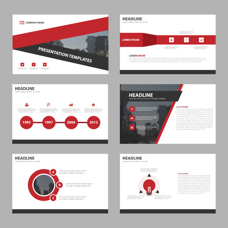 Red triangle Abstract presentation templates, Infographic elements template flat design set for brochure flyer leaflet marketing advertising banner template
