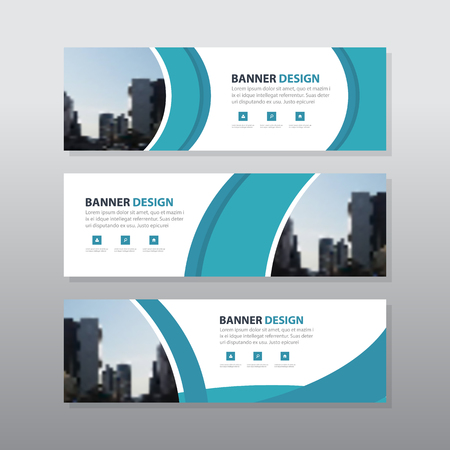 Blue curve abstract corporate business banner template, horizontal advertising business banner layout template flat design set , clean abstract cover header background for website design