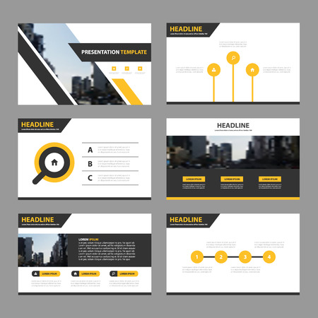 yelow: Yelow black triangle Abstract presentation templates, Infographic elements template flat design set for annual report brochure flyer leaflet marketing advertising banner template Illustration